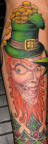 Leprechaun Skull Tattoo