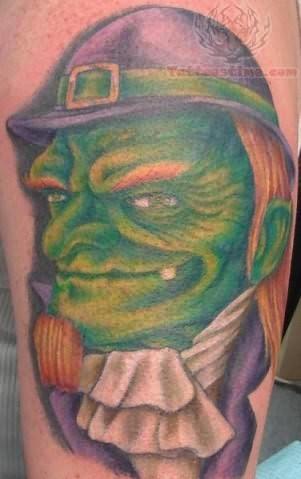 Leprechaun Scary Tattoo