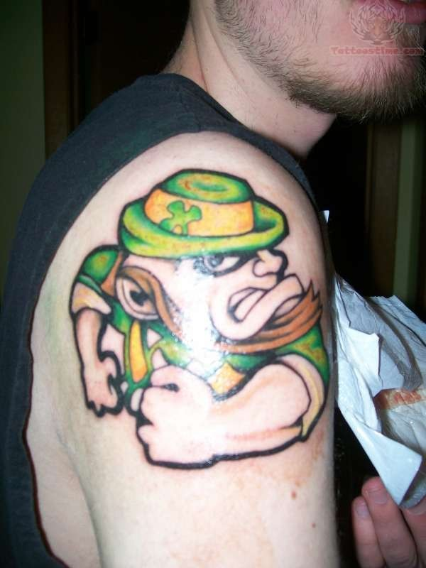 Leprechaun tattoo images designs for Notre dame tattoos