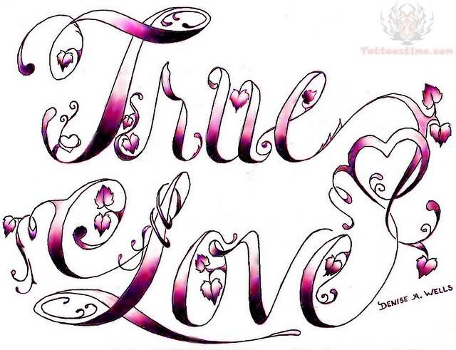 True love tattoo design for Love design