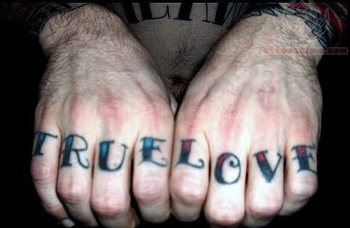 True Love Symbols Tattoos True Love Tattoo on Fingers