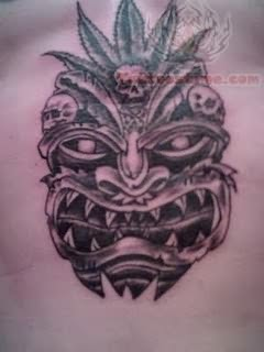 Hawaiian Face Mask Tattoo