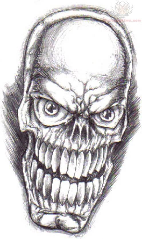 Skull Mask Tattoo Sample