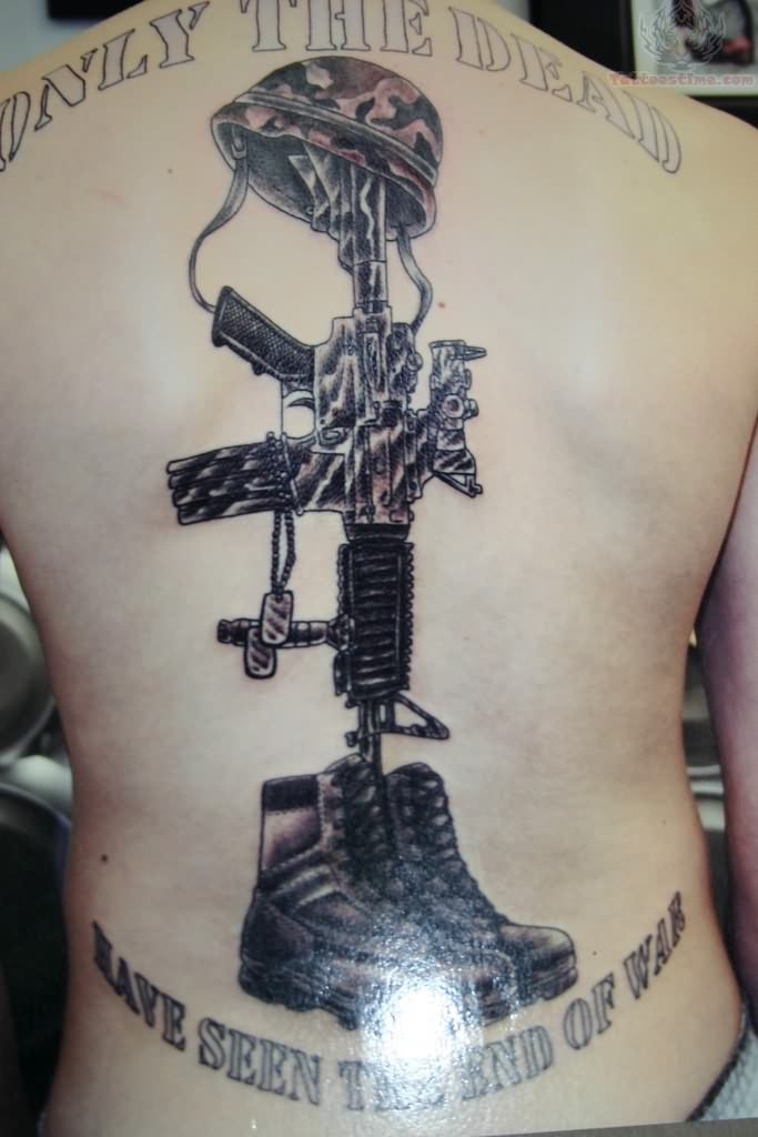 memorial tattoo of soldier. Black Bedroom Furniture Sets. Home Design Ideas