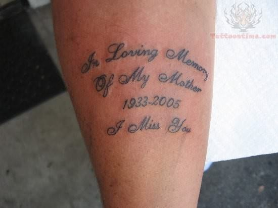 Loving Memory Tattoos