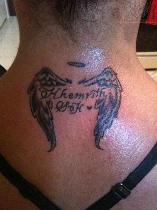 Small wings memorial tattoo for Small memorial tattoos