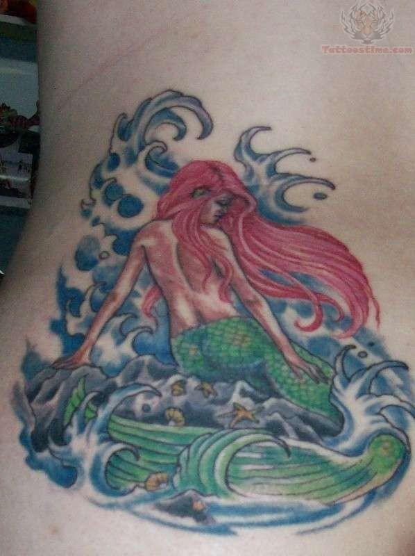 ocean and mermaid tattoo. Black Bedroom Furniture Sets. Home Design Ideas