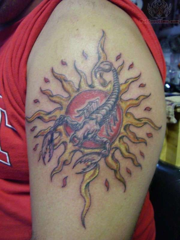 Hippie Scorpion Tattoo