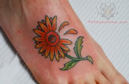 Hippie Tattoo Foot Daisy
