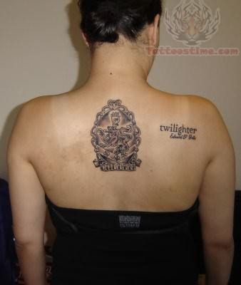 Hippie Tattoo On Back