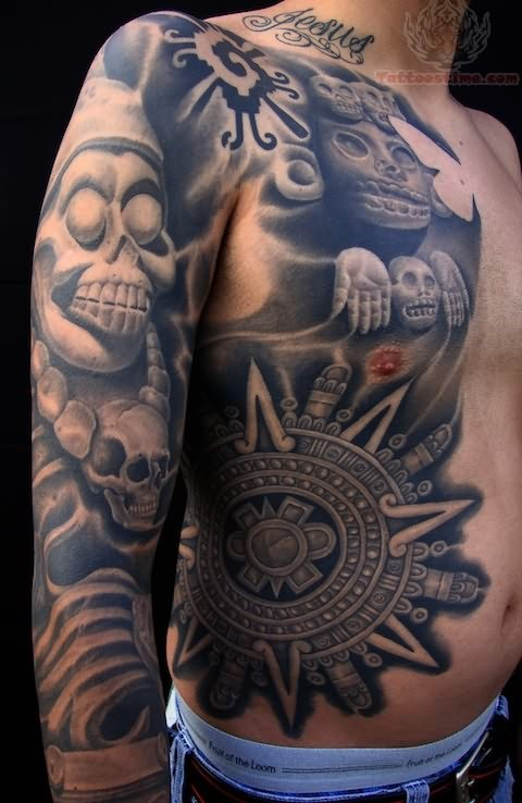 tattoo full tribal body designs Tattoos Skulls Mexican