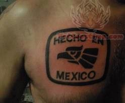 Mexico Tattoo On Chest