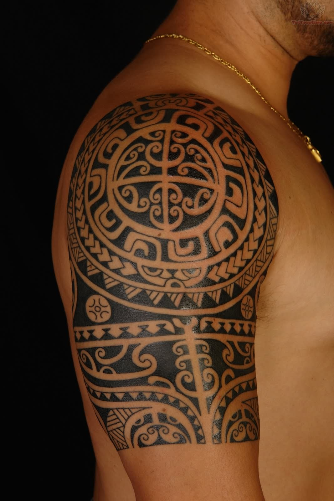 Best Polynesian Tattoo On Shoulder