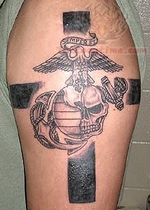 1990tattoos star on elbow tattoo for Big cross tattoos