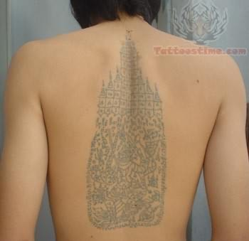Thai Tattoo For Back
