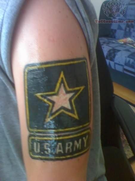 U S Army Star Tattoo