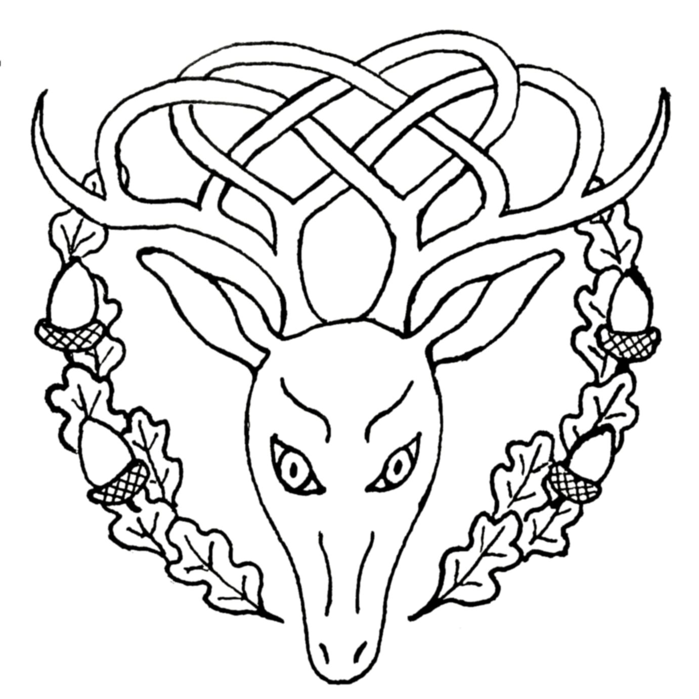 Celtic Deer Tattoo Design