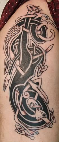 celtic dog tattoo. Black Bedroom Furniture Sets. Home Design Ideas