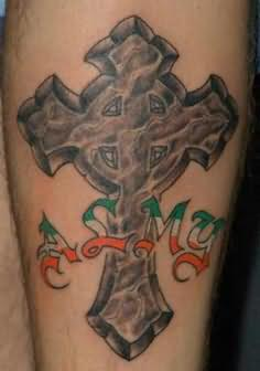 Celtic tattoos page 39 for Elegant cross tattoo designs