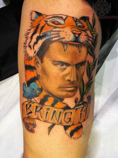 Charlie Sheen Winning Movie Tattoo