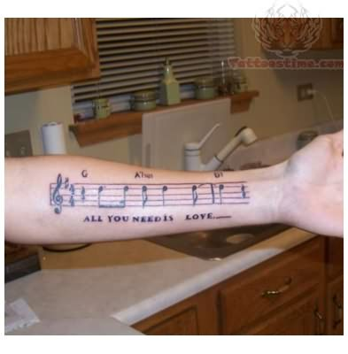 Music Love Tattoo On Arm