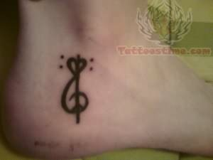 Music Tattoo On Heel