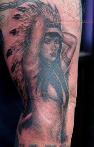 American Girl Tattoo Native American Woman Tattoo