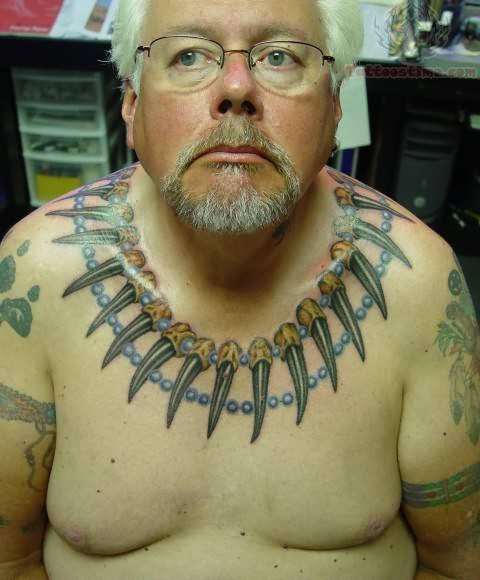 Bear claw tattoos on chest celebrity