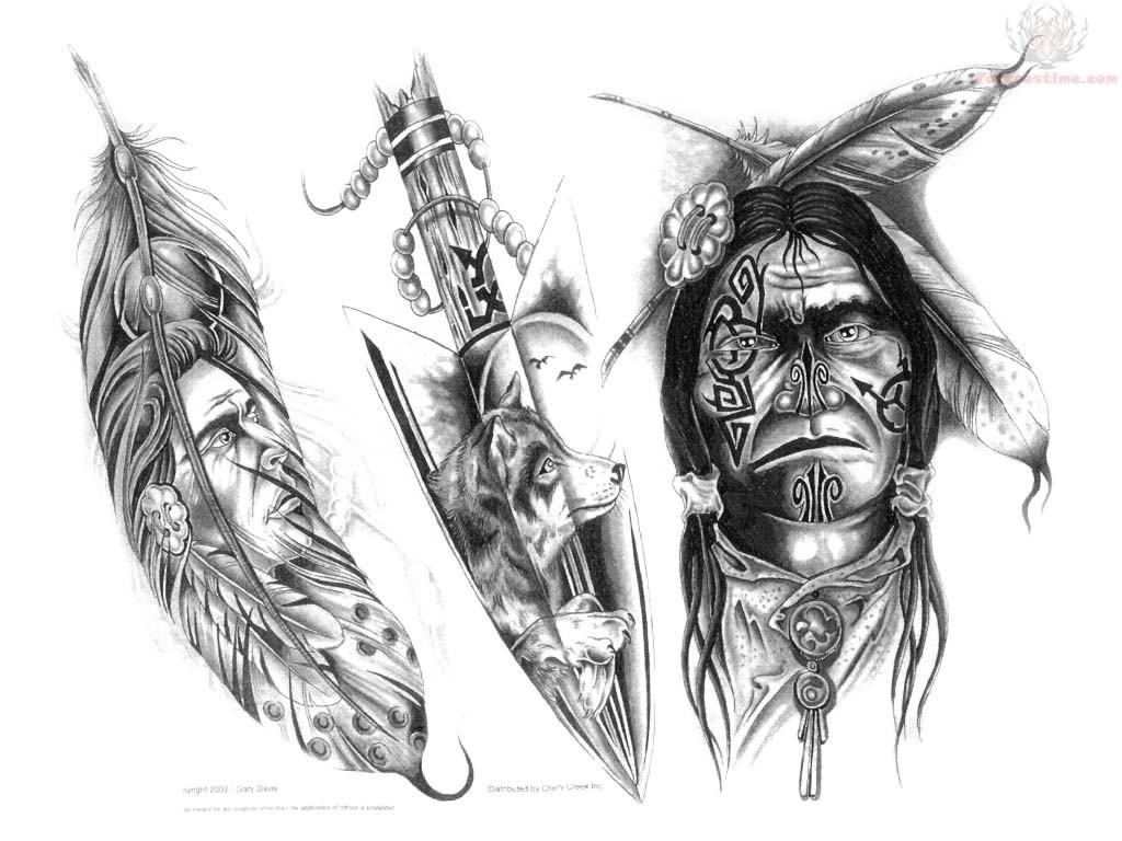 Native American Indian Tattoos Designs