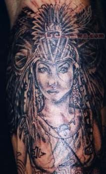 Girl Native American Tattoo Native American Woman Tattoo