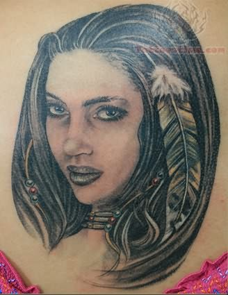 Native american tattoo images designs for Indian woman tattoo