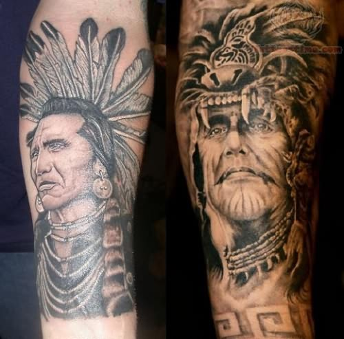 Native american and warriors tattoo for Native american warrior tattoos