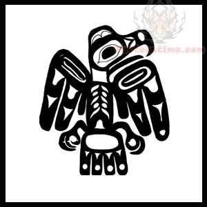 Native American Eagle Tattoo Design