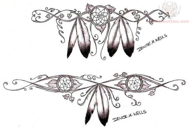 Native American Feather Tattoos Designs