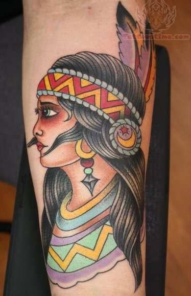 Native American Girl Tattoo Native American Woman Tattoo