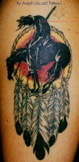 Native American Indian Feather Tattoo