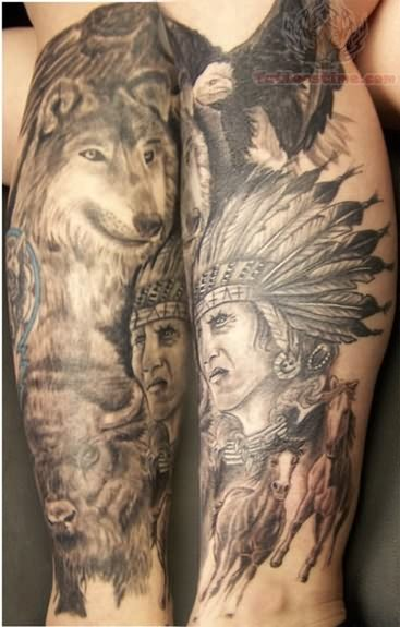 Native American Tattoo For Back Shoulder