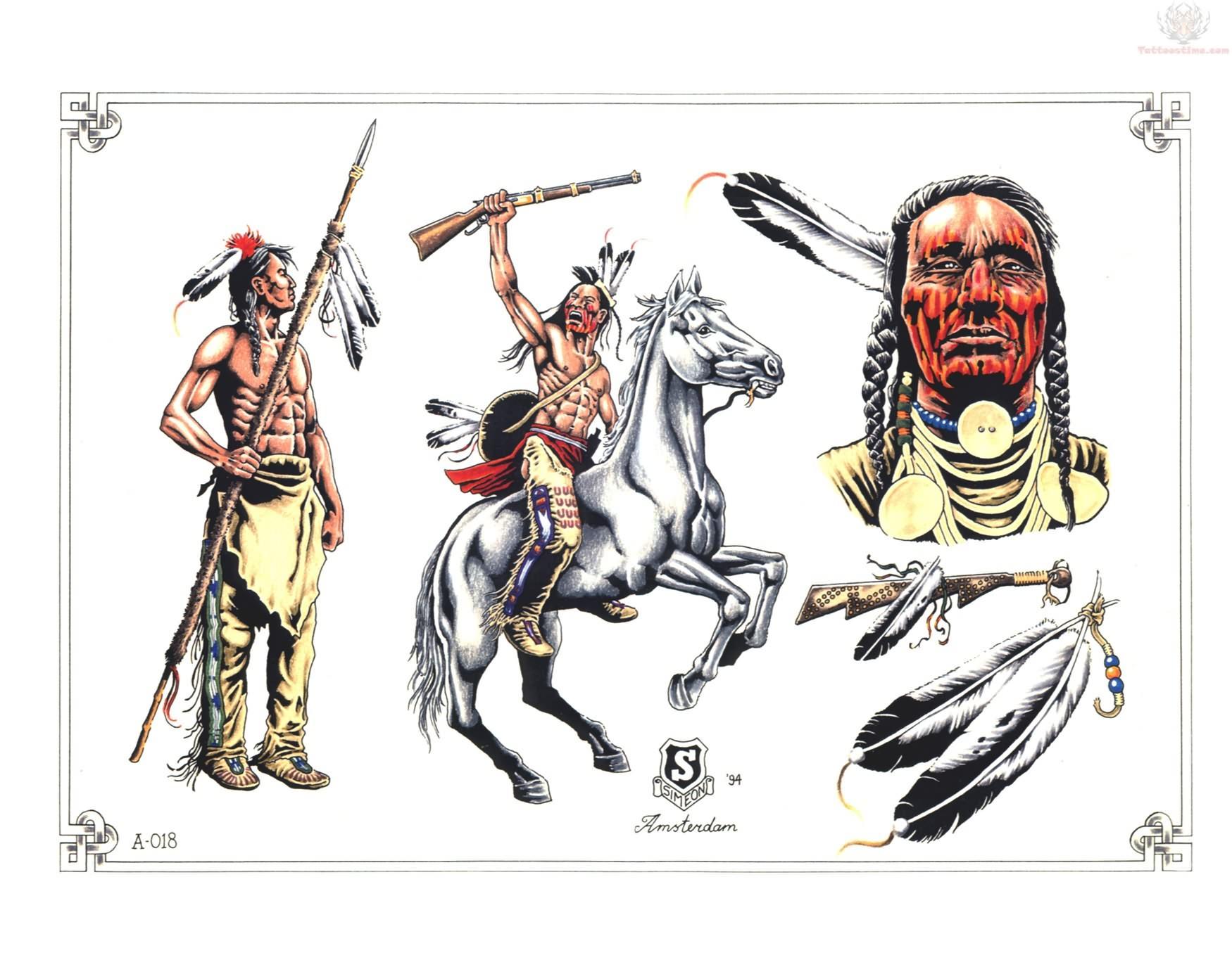 native american tattoos samples. Black Bedroom Furniture Sets. Home Design Ideas
