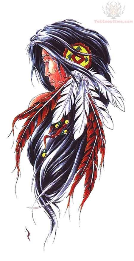 Tattoo Design For Native Native American Woman Tattoo