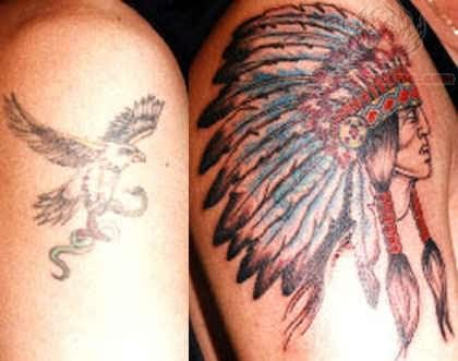 0a64225f6ded6 Tattoo Native American Chief Cover Up