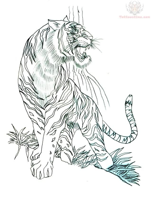 Tiger Breath Tattoo Design