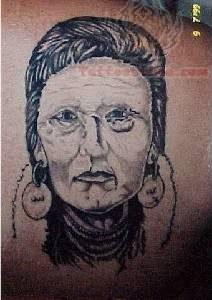 Native American Face Tattoos for Women