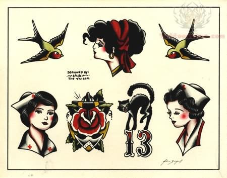 tattoos on pinterest devil tattoo old school tattoos and vintage tattoos. Black Bedroom Furniture Sets. Home Design Ideas