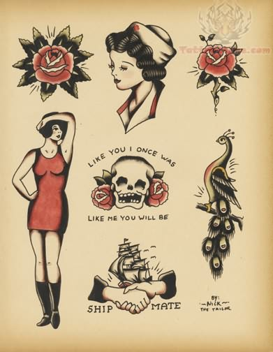 Old school tattoo images designs for Traditional old school tattoo designs
