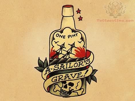 Sailor Grave Old School Design