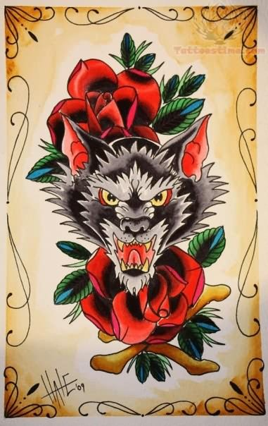 Old School Tattoo Images & Designs African Lion Footprints