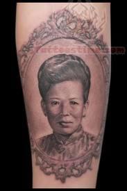 Beautiful People Portrait Tattoo