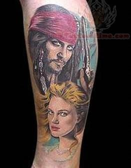 People Tattoo For Leg