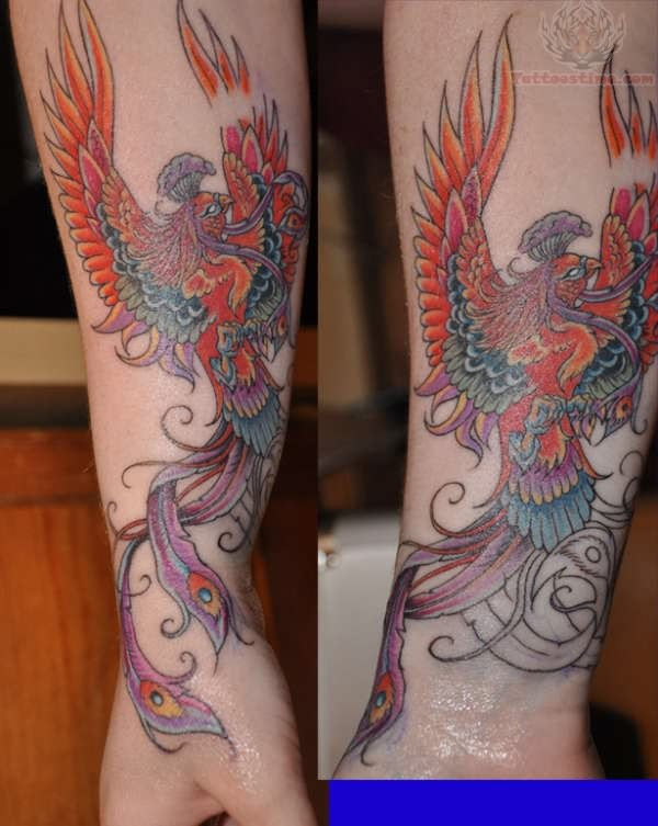 Chinese Phoenix Tattoos On Arm