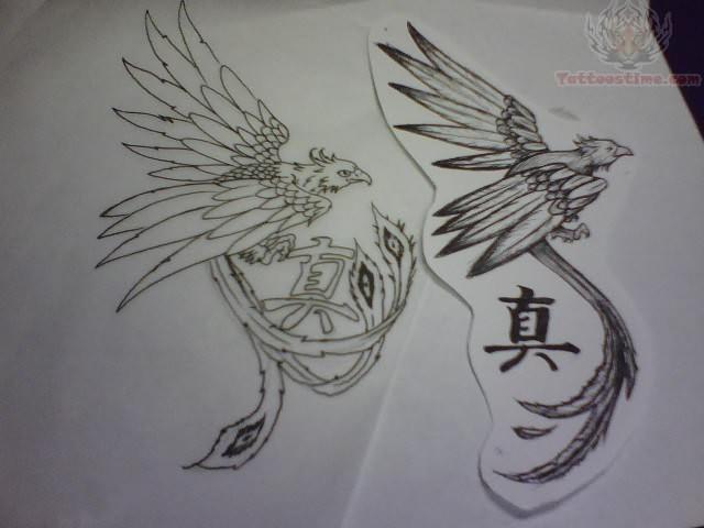 Phoenix Tattoo Drawings